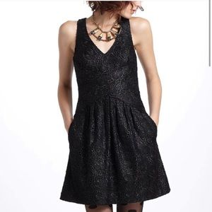 ANTHRO Leifsdottir Black Lace Lingonberry Dress